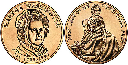 first spouse bronze medals coin guide