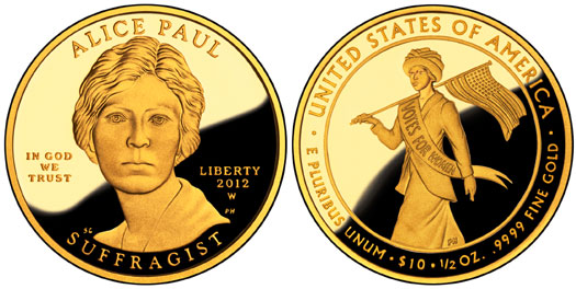 Alice Paul Suffragist Gold Coin