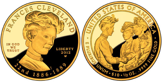 Frances Cleveland Gold Coin First Term