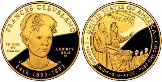 Frances Cleveland Second Term Gold Coin