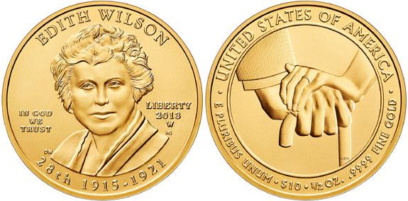 2013 Edith Wilson First Spouse Gold Coin