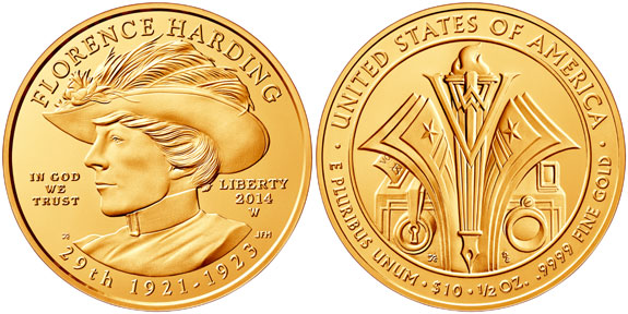 Florence Harding First Spouse Gold Coin
