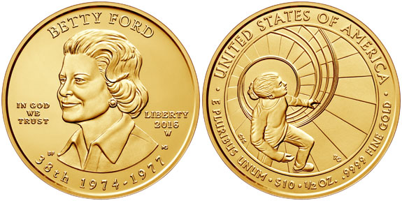 Betty Ford First Spouse Gold Coin