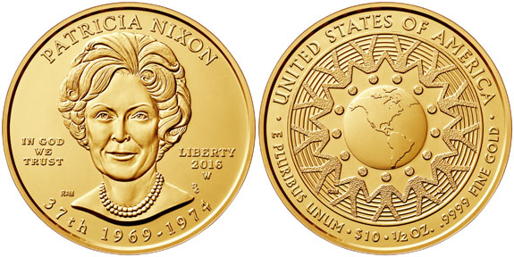 Patricia Nixon First Spouse Gold Coin
